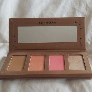 Sephora bronzer, blush & highlighter palette